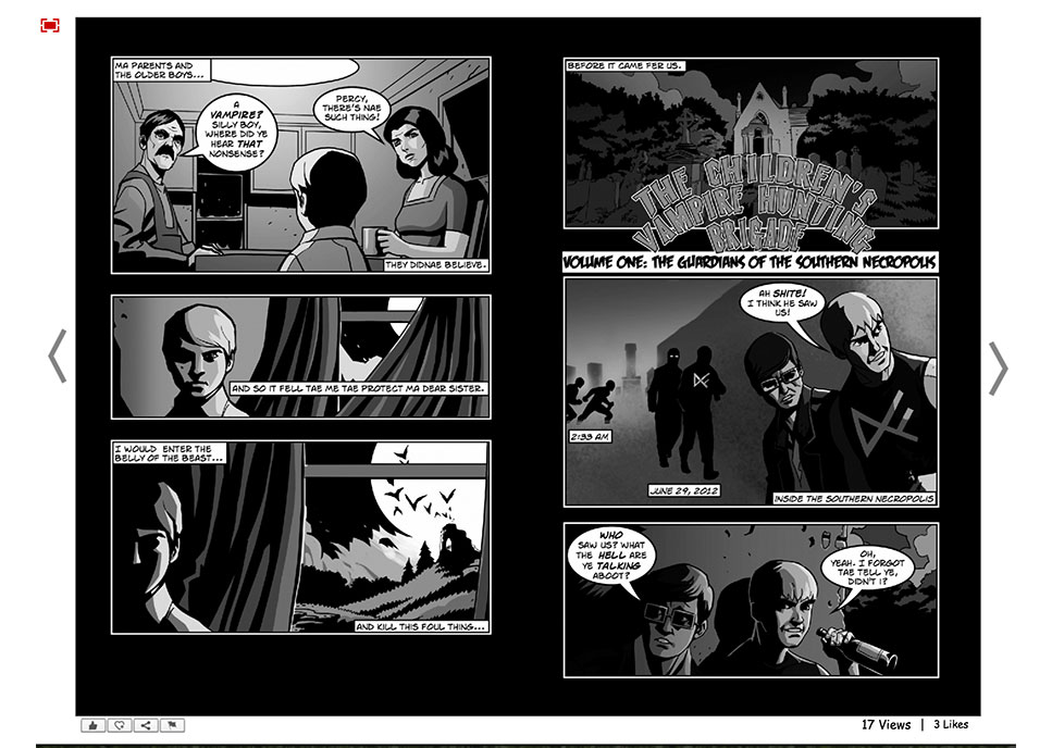 View comics in full screen